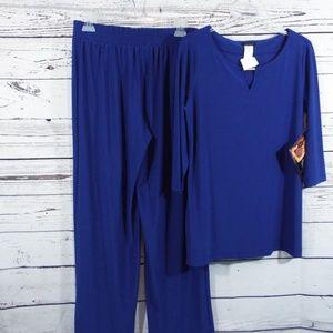 IMAN Lounge Wear Pants Set Medium NWT
